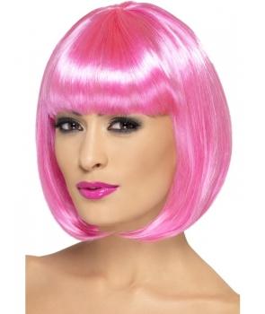 Peruca petrecere Partyrama roz