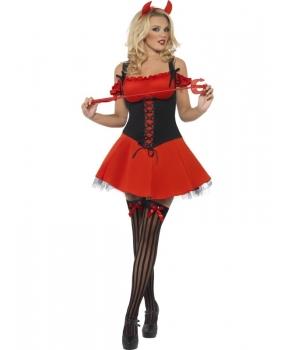 Costum Halloween femei diavolita eleganta