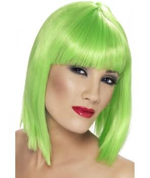 Peruca petrecere Glam verde