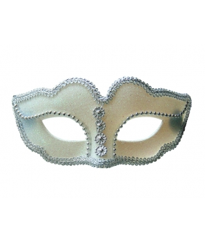 Masca de carnaval alba