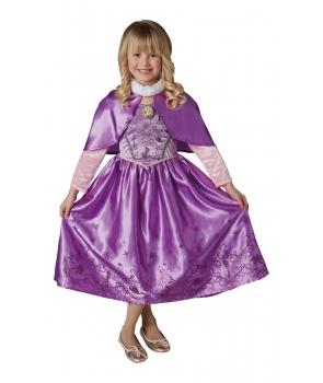 Costum carnaval fete Rapunzel cu pelerina