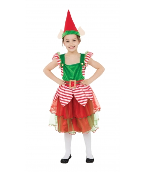 Costum Craciun fete Spiridusa cu palarie
