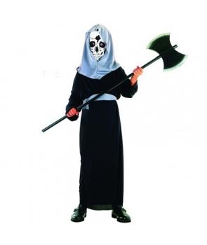 Costum Halloween baieti schelet roba cu cagula