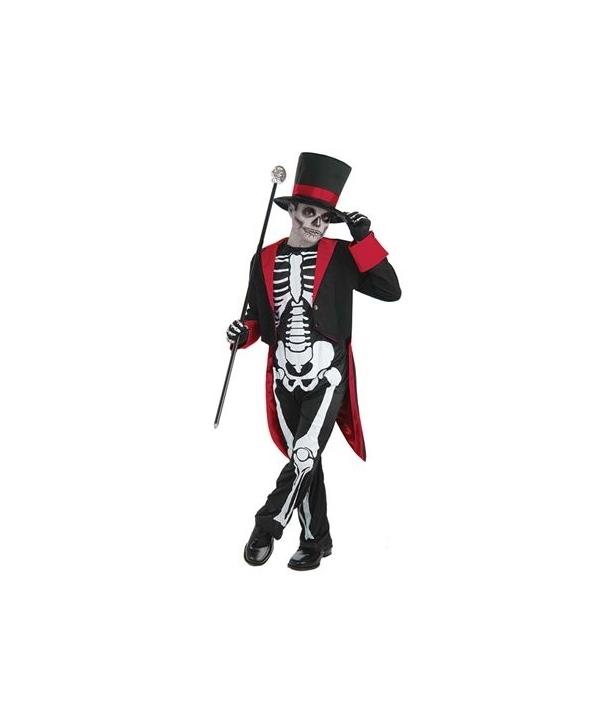 Costum baieti Mr. Bone Halloween