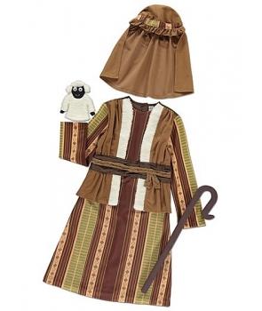 Costum Craciun baieti pastor cu vesta