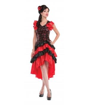 Costum carnaval femei dansatoare spaniola