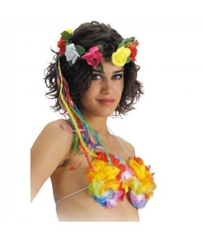 Coronita cu flori colorate