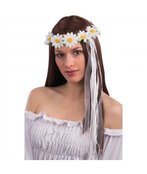 Coronita margarete cu fundite albe