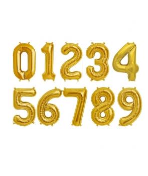 Baloane folie cifre aurii