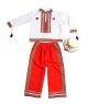 Costum national baieti cu rosu