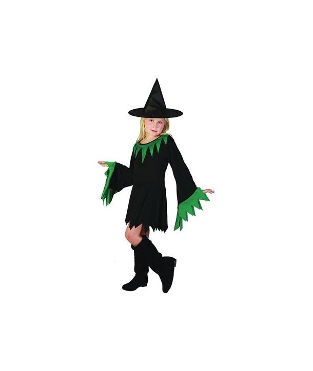 Costum fete vrajitoare verde Hallloween