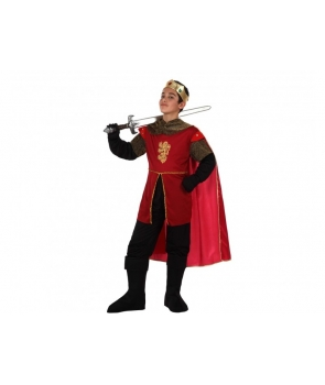 Costum carnaval baieti Rege, Print cu tunica