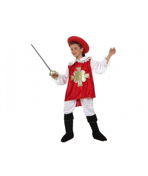 Costum carnaval baieti muschetar rosu