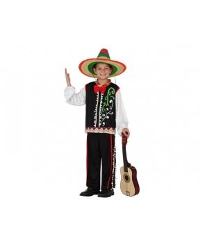 Costum carnaval baieti mexican Mariachi