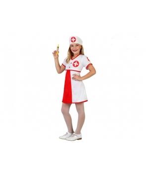 Costum carnaval fete asistenta cu boneta
