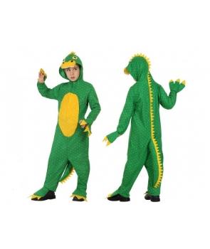 Costum carnaval copii dinozaur cu galben