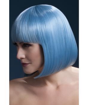 Peruca petrecere Elise albastru pastel