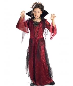 Costum Halloween fete vampirita eleganta