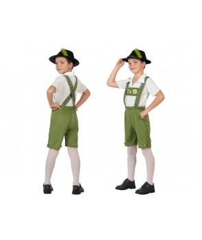 Costum carnaval baieti Padurar verde