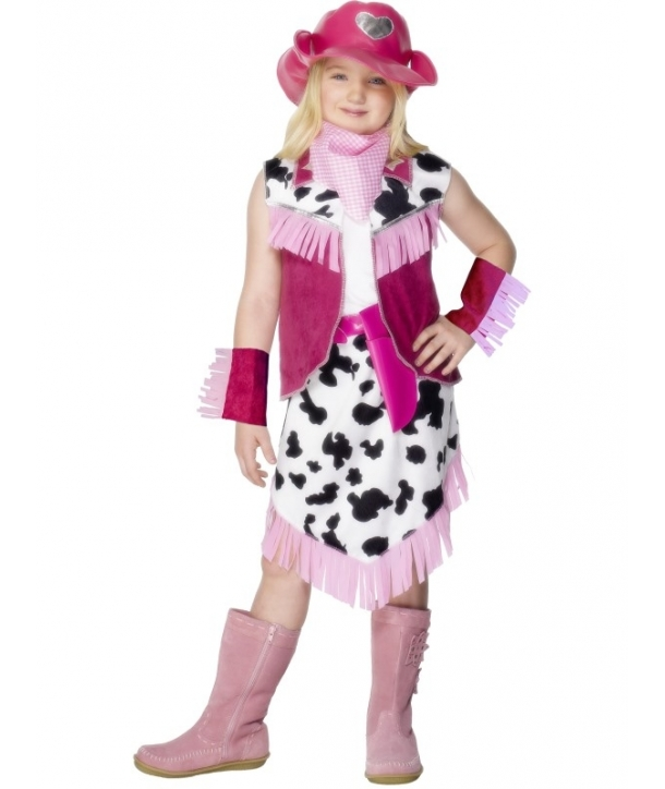 Costum carnaval fete Cowgirl roz
