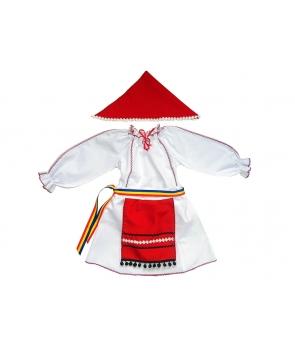Costum national fete cu rosu