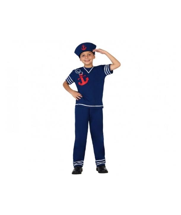 Costum carnaval baieti Marinar albastru