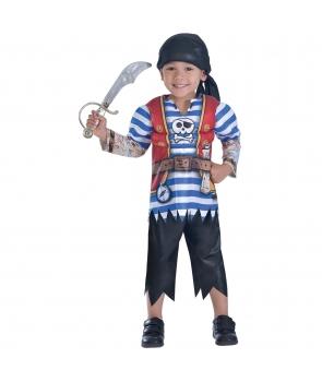 Costum carnaval baieti Pirat cu muschi