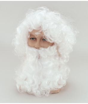 Set Craciun barba si peruca Mos Craciun