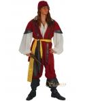 Costum carnaval barbati pirat visiniu