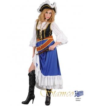 Costum carnaval femei Pirata albastra