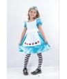 Costum carnaval fete Alice in Tara Minunilor