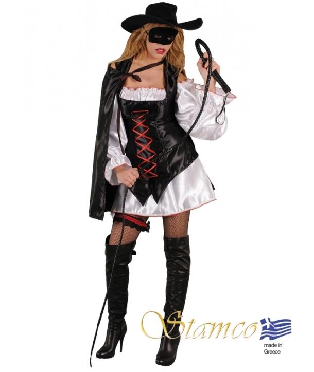 Costum carnaval fata Zorro