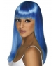 Peruca petrecere Glamourama albastra