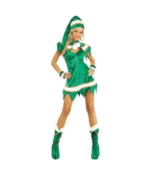 Costum Craciun spiridusa verde