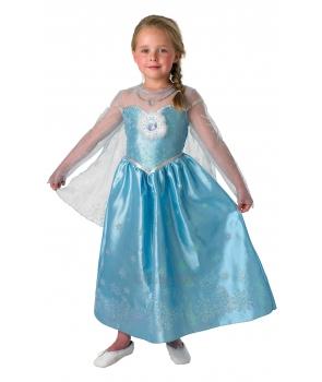 Costum carnaval fete Elsa de luxe Frozen