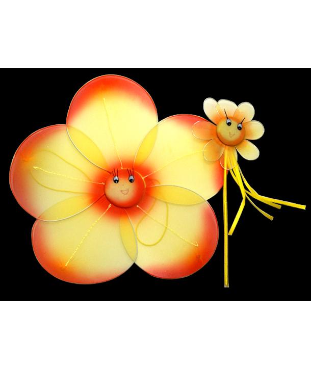 Set floare galben cu portocaliu