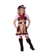 Costum carnaval fete cowgirl rochita