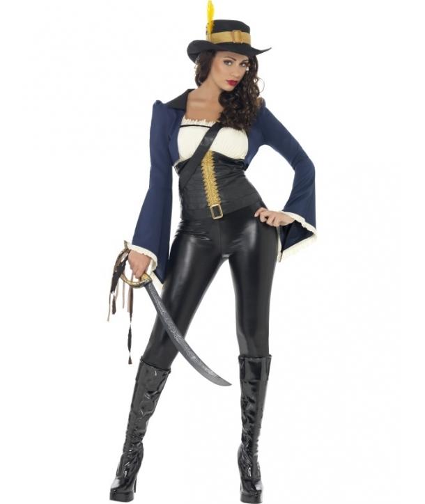 Costum carnaval femei pirata albastra Penelope