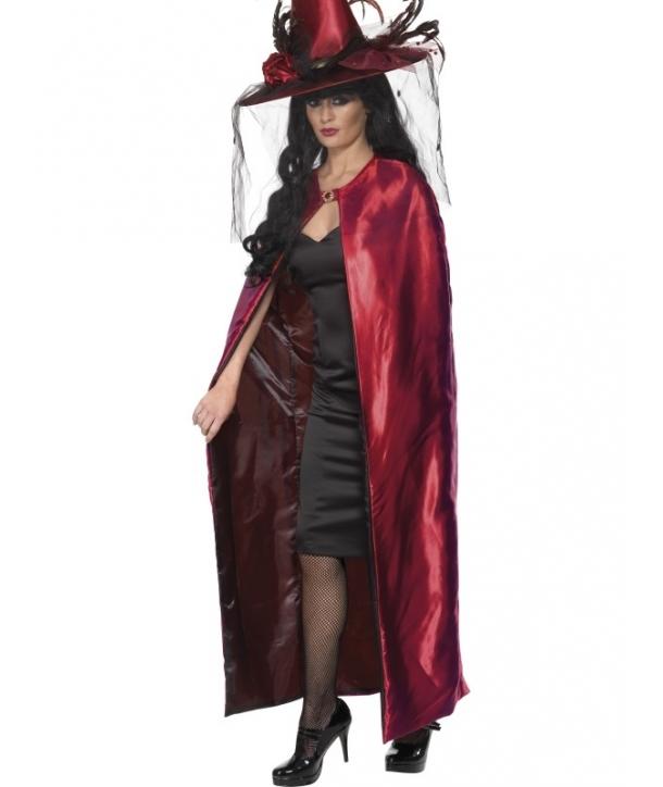 Pelerina reversibila rosu - negru Halloween