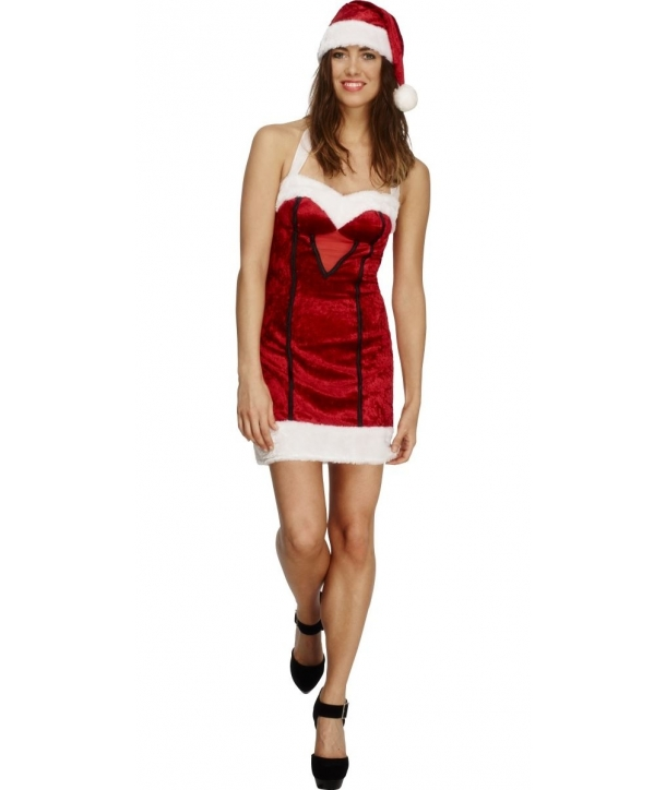 Costum Craciunita femei Miss Santa