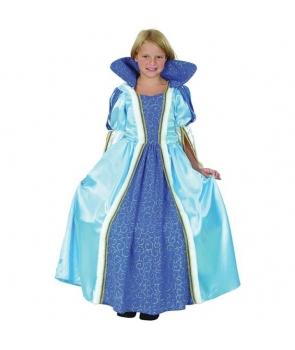 Costum carnaval fete Printesa albastra