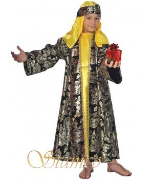 Costum Craciun baieti mag galben de lux
