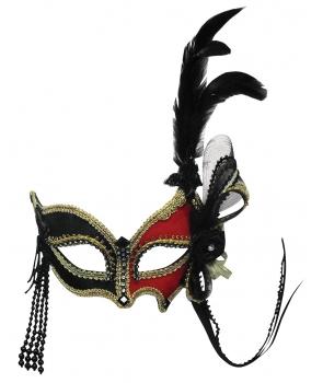 Masca de carnaval cu pene
