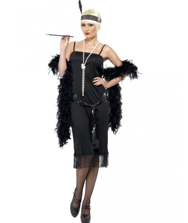 Costum carnaval femei anii 20 negru