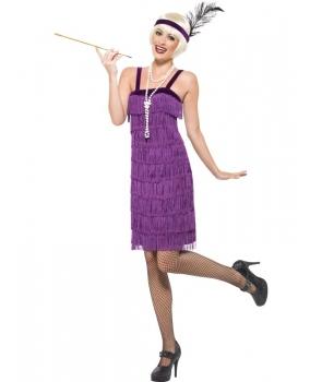 Costum carnaval femei anii 20 mov