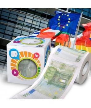 Hartie igienica cu euro