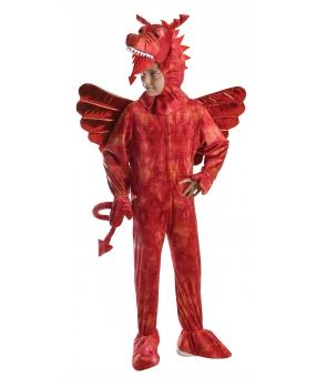 Costum carnaval copii dragon rosu