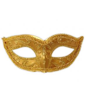 Masca de carnaval aurie
