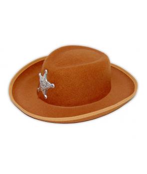 Palarie serif, cowboy maro