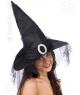 Palarie vrajitoare neagra cu catarama Halloween
